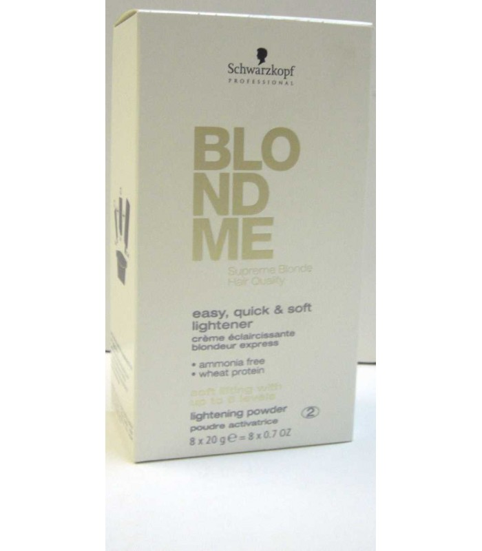 Polvo Decolorante S/amoniaco Blondme(8 Und) 20ml