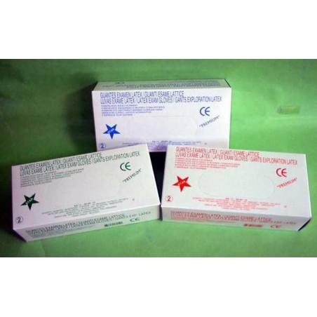 GUANTES LATEX C/TALCO T/M 100und
