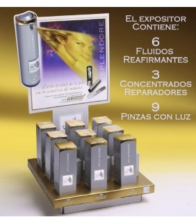 SERUM SPLENDORE EXPOSITOR + PINZAS