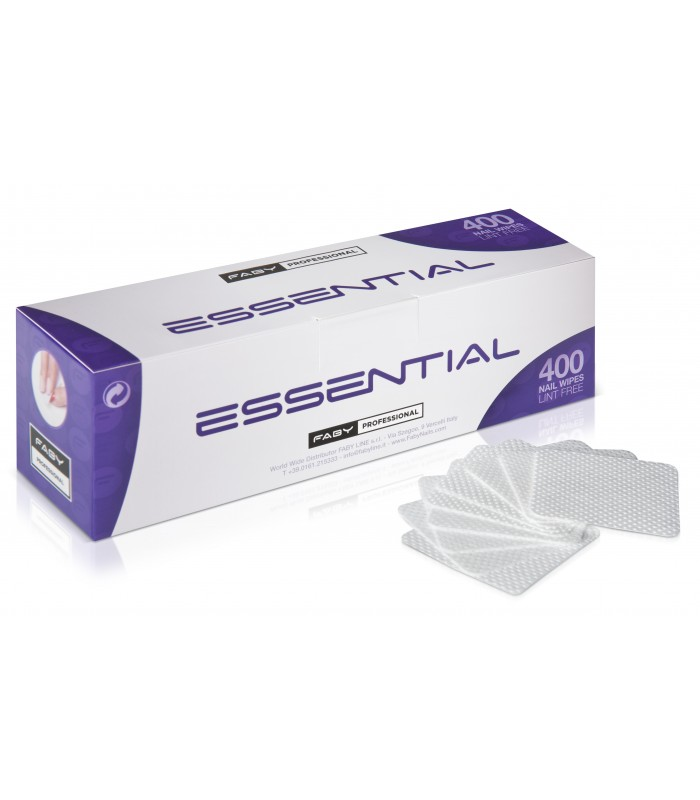ESSENTIAL NAIL WIPES LINT FREE 400 PCS