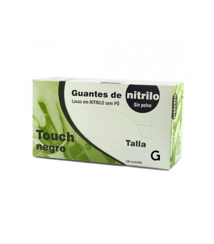 GUANTES NITRILO NEGROS S/ TALCO T/G 100und