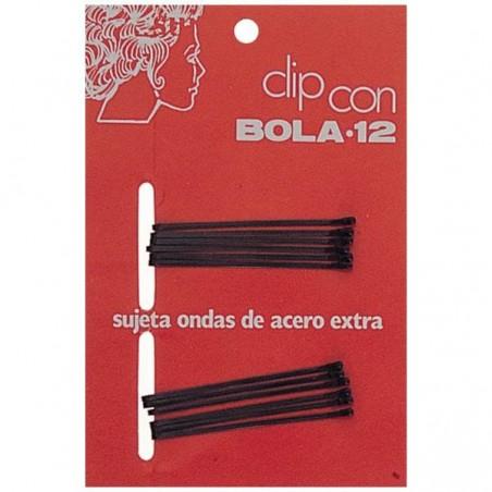 CLIPS BOLA 12 NEGRO - caja 72 docenas