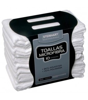 TOALLA STEINHART MICROFIBRA BLANCA 40X75 10und
