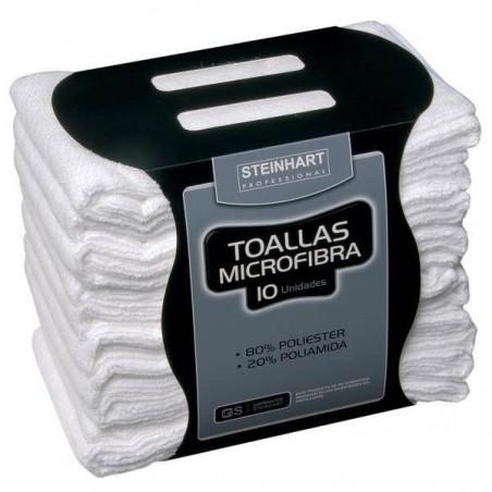 TOALLA STEINHART MICROFIBRA BLANCA 40X75 10und