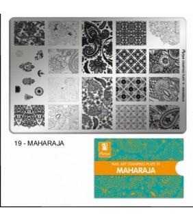 MOYRA PLACA STAMPING Nº 19 MAHARAJA