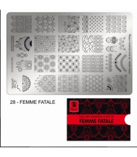 MOYRA PLACA STAMPING Nº 28 FEMME FATALE