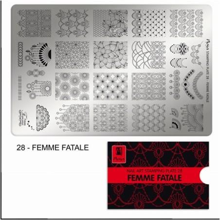 MOYRA PLACA STAMPING Nº 28 FEMME FATALE