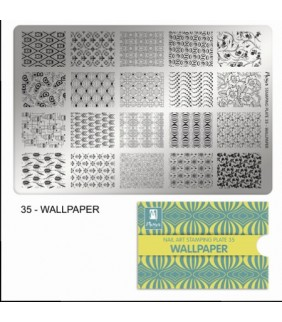 MOYRA PLACA STAMPING Nº 35 WALLPAPER