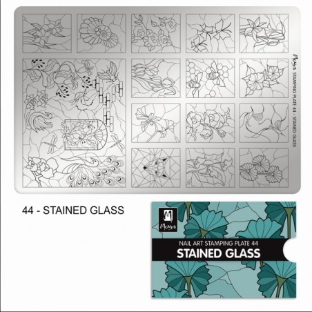 MOYRA PLACA STAMPING Nº 44 STAINED GLASS