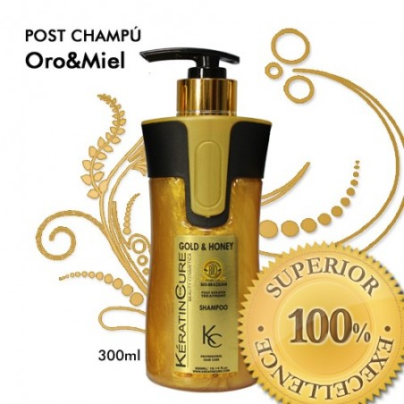 POST-CHAMPÚ ORO & MIEL MANTENIMIENTO ALISADO 300ml