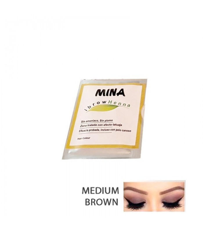 MUESTRA DE HENNA MEDIUM BROWN