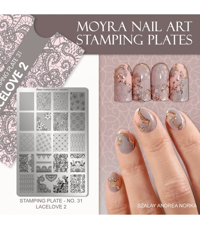 MOYRA PLACA STAMPING Nº 15 LACE LOVER